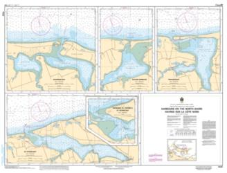 HARBOURS ON THE NORTH SHORE/HAVRES SUR LA COTE NORD (4425) by Canadian Hydrographic Service