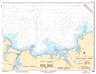 POMQUET AND TRACADIE HARBOURS (4447) by Canadian Hydrographic Service