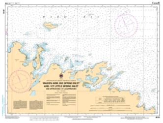 MAIDEN ARM, BIG SPRING INLET AND/ET LITTLE SPRING INLET (AND APPROACHES/ET LES APPROCHES) (4519) by Canadian Hydrographic Service