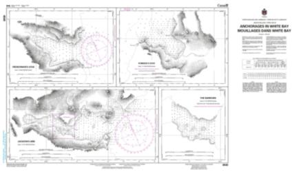 ANCHORAGES IN WHITE BAY/MOUILLAGES DANS WHITE BAY (4540) by Canadian Hydrographic Service