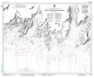WRECK ISLAND TO/A CINQ CERF BAY (4638) by Canadian Hydrographic Service