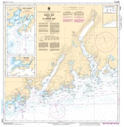 GARIA BAY AND/ET LE MOINE BAY (4639) by Canadian Hydrographic Service