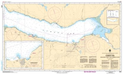 HUMBER ARM MEADOWS POINT TO/A HUMBER RIVER (4652) by Canadian Hydrographic Service