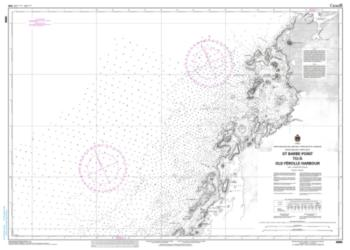ST. BARBE POINT TO/A OLD FEROLLE HARBOUR (4666) by Canadian Hydrographic Service