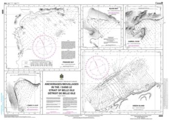 ANCHORAGES IN THE STRAIT OF BELLE ISLE / DETROIT DE BELLE ISLE (4668) by Canadian Hydrographic Service