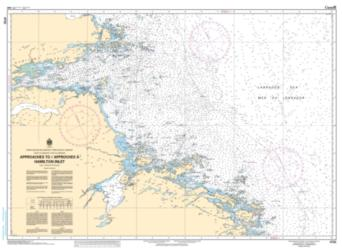 APPROACHES TO/APPROCHES A HAMILTON INLET (4732) by Canadian Hydrographic Service
