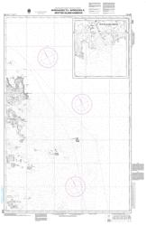 APPROACHES TO/APPROCHES A SPOTTED ISLAND HARBOUR (4744) by Canadian Hydrographic Service
