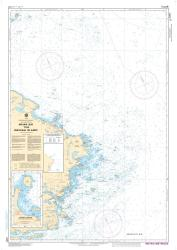 INDIAN BAY TO/A WADHAM ISLANDS (4857) by Canadian Hydrographic Service