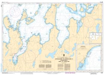 APPROACHES TO/APPROCHES A LEWISPORTE AND/ET LOON BAY (4865) by Canadian Hydrographic Service