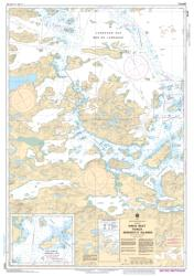 DAVIS INLET TO/AUX SENIARTLIT ISLANDS (5049) by Canadian Hydrographic Service