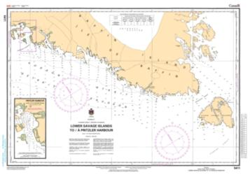 LOWER SAVAGE ISLANDS TO/A PRITZLER HARBOUR (5411) by Canadian Hydrographic Service
