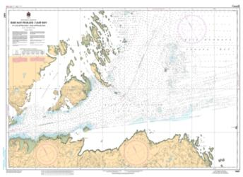BAIE AUX FEUILLES / LEAF BAY ET LES APPROCHES / AND APPROACHES (5467) by Canadian Hydrographic Service