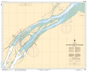 SHIP SANDS ISLAND TO/A MOOSONEE (5861) by Canadian Hydrographic Service