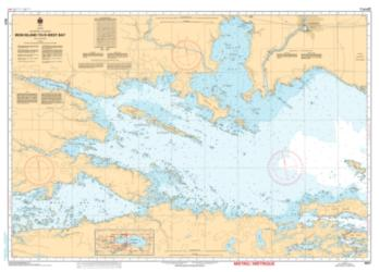 IRON ISLAND TO/A WEST BAY (6037) by Canadian Hydrographic Service