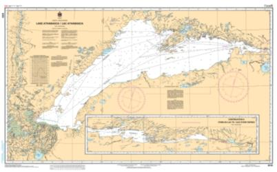 LAKE ATHABASCA / LAC ATHABASCA (6310) by Canadian Hydrographic Service