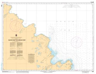 MCIVER POINT TO/A MIRAGE POINT (6354) by Canadian Hydrographic Service