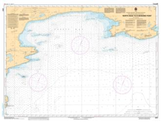 NORTH HEAD TO/A MORAINE POINT (6357) by Canadian Hydrographic Service