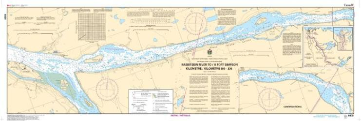 RABBITSKIN RIVER TO FORT SIMPSON (KILOMETRE 300 TO KILLOMETRE 330) (6409) by Canadian Hydrographic Service