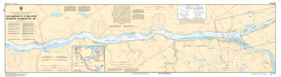 FORT SIMPSON TO/A TRAIL RIVER KILOMETRE 330 / KILOMETRE 390 (6410) by Canadian Hydrographic Service