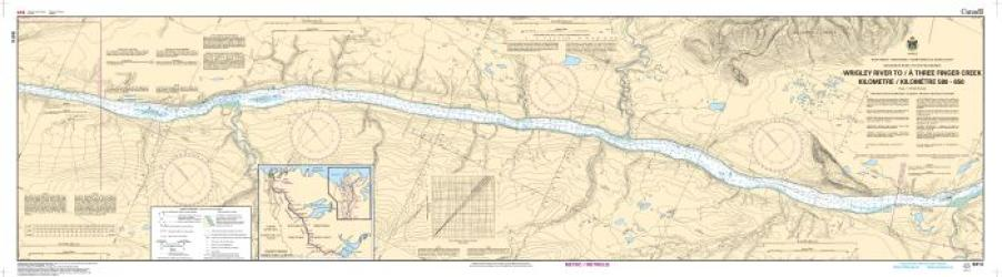 WRIGLEY RIVER TO/A THREE FINGER CREEK KILOMETRE 580 / KILOMETRE 650 (6414) by Canadian Hydrographic Service