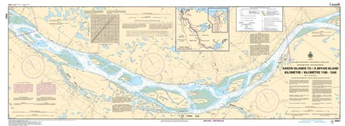 ASKEW ISLANDS TO/A BRYAN ISLAND KILOMETRE 1180 / KILOMETRE 1240 (6423) by Canadian Hydrographic Service