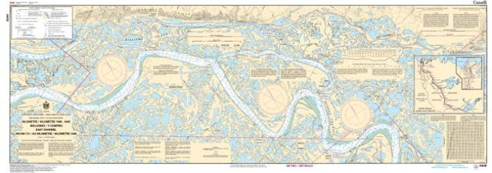 KILOMETRE/KILOMETRE 1580 - 1645 INCLUDING/Y COMPRIS EAST CHANNEL, INUVIK TO/A KILOMETRE/KILOMETRE 1645 (6429) by Canadian Hydrographic Service