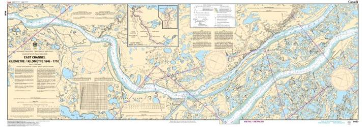 EAST CHANNEL, KILOMETRE/KILOMETRE 1645 - 1710 (6430) by Canadian Hydrographic Service