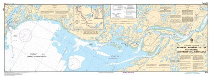 EAST CHANNEL, LOUSY POINT TO/A TUKTOYAKTUK KILOMETRE 1710 / KILOMETRE 1766 (6431) by Canadian Hydrographic Service