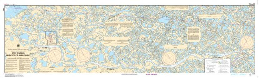 WEST CHANNEL, AKLAVIK TO/A SHALLOW BAY (6433) by Canadian Hydrographic Service