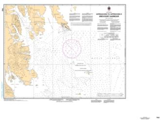 APPROACHES TO/APPROCHES A BREVOORT HARBOUR (7103) by Canadian Hydrographic Service