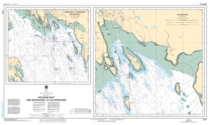 APPROACHES TO/ APPROCHES A KOOJESSE INLET (7127) by Canadian Hydrographic Service