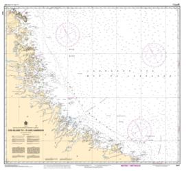 COD ISLAND TO/A CAPE HARRISON (8047) by Canadian Hydrographic Service