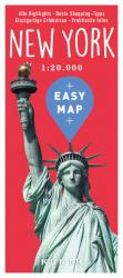 New York, Easy Map, German Edition by Kunth Verlag