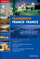 France, Road Atlas Travelmag (German, English, French ed) by Kunth Verlag