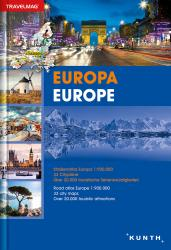 Europe, Road Atlas Travelmag (German/English ed) by Kunth Verlag