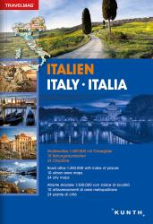 Italy, Road Atlas Travelmag (German, English, Italian ed) by Kunth Verlag