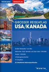 USA/Canada, Large Travel Atlas (German ed) by Kunth Verlag