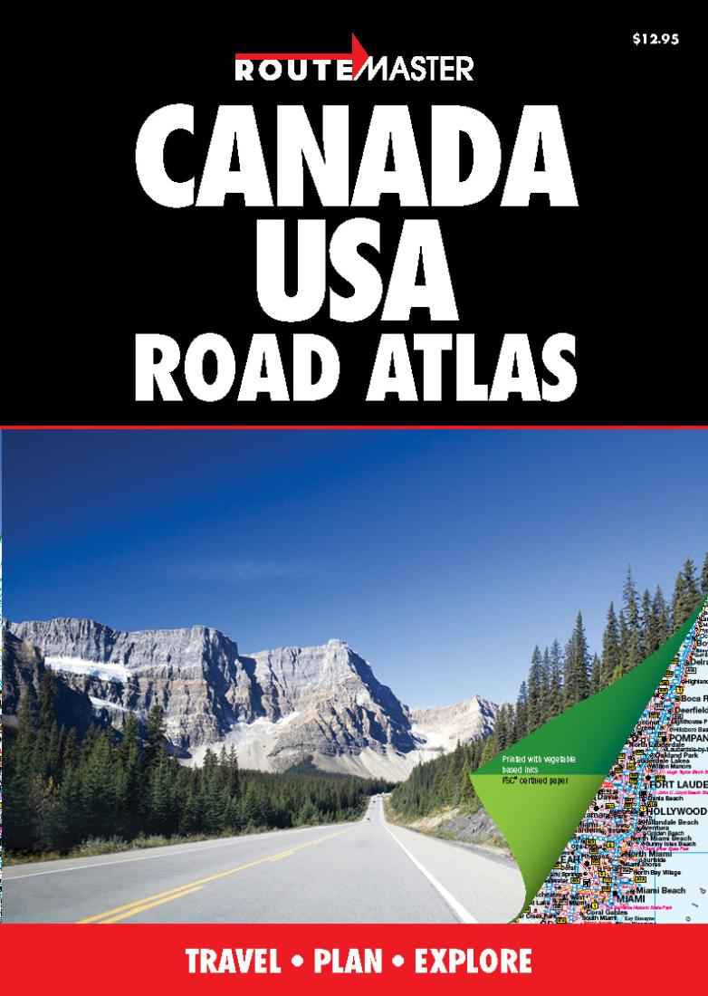 Canada And United States Road Atlas By Route Master - Usa road atlas