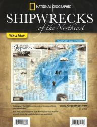 Shipwrecks of the Northeast, Folded Wall Map by National Geographic Maps