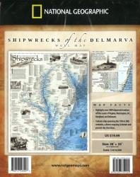 Shipwrecks of the Delmarva, Folded Wall Map by National Geographic Maps