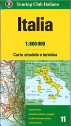 Italy road and tourist map by Touring Club Italiano