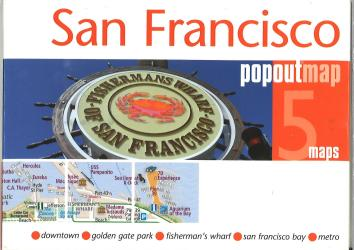 San Francisco, California, PopOut Map by PopOut Products