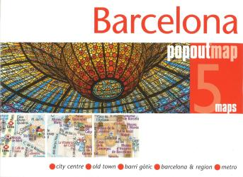 Barelona, Spain PopOut 5 Maps by PopOut Products, Compass Maps Ltd.