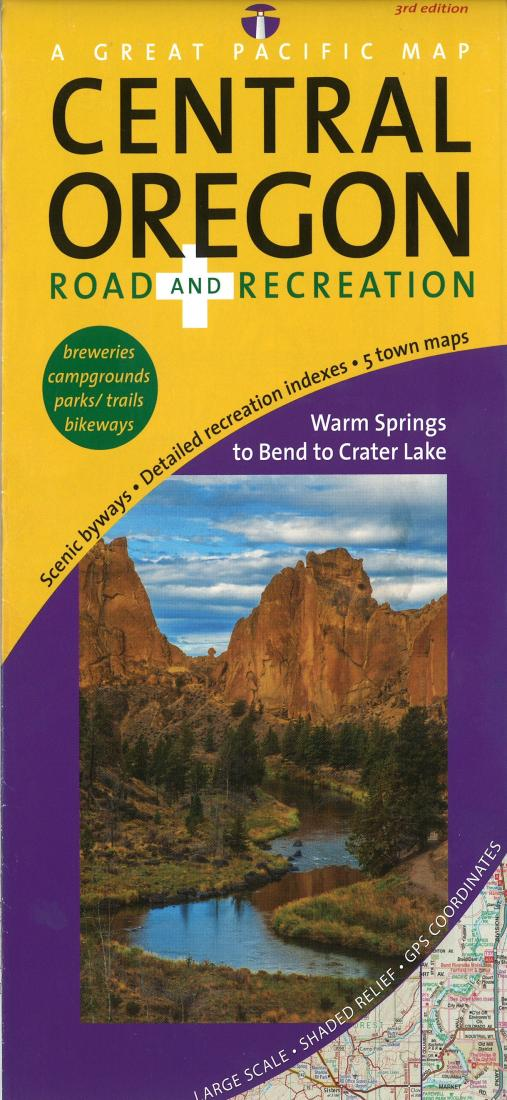 Central Oregon, Road and Recreation by Great Pacific Recreation & Travel  Maps