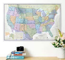 Classic United States Wall Map by Maps International Ltd.
