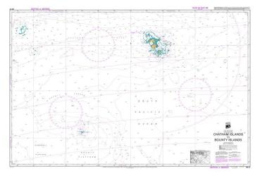 CHATHAM ISLANDS TO BOUNTY ISLANDS (27) by Land Information New Zealand (LINZ)