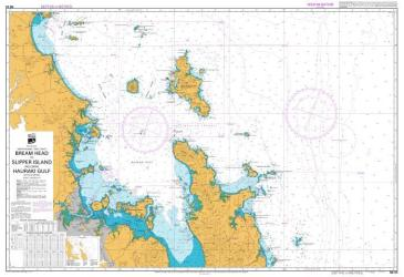 BREAM HEAD TO SLIPPER ISLAND INCLUDING HAURAKI GULF (53) by Land Information New Zealand (LINZ)