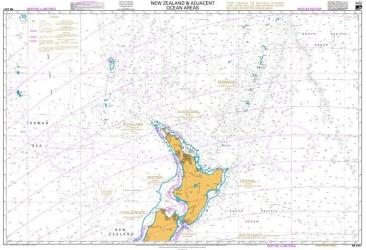 NEW ZEALAND AND ADJACENT OCEAN AREAS - NORTHERN SHEET (223) by Land Information New Zealand (LINZ)