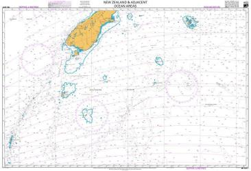 NEW ZEALAND AND ADJACENT OCEAN AREAS - SOUTHERN SHEET (224) by Land Information New Zealand (LINZ)
