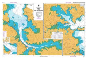 PLANS IN THE BAY OF ISLANDS: KERIKERI INLET AND TE PUNA INLET / OPUA WHARF (5124) by Land Information New Zealand (LINZ)